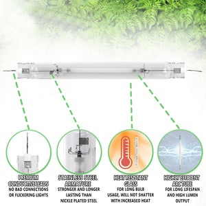 Eco Farm Double Ended 600W/1000W HPS Grow Light Bulb