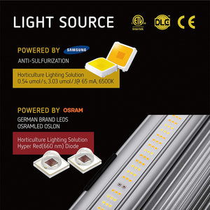 VIVOSUN Patented Design VS4300 Foldable Dimmable LED Grow Light with Samsung & OSRAM Diodes
