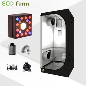 Eco Farm 3'*3' Essential DIY LED Grow Package for 2 Plants