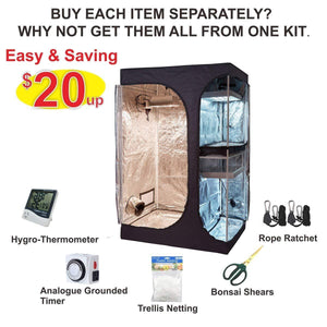 TopoLite Indoor Grow Tent Kits 2-in-1