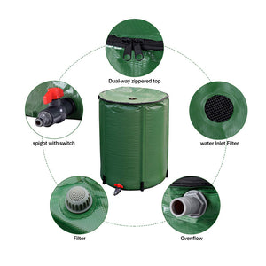 ECO Farm Collapsible Runoff Portable Rain Barrel Water Storage Tank-growpackage.com