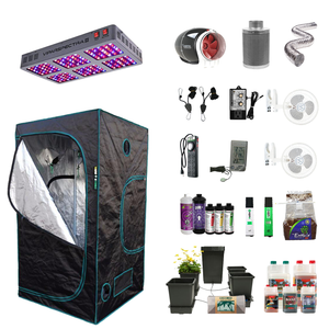 4' X 4' LED Hydroponic Indoor Grow Tent Kits for 4 Plants