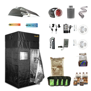4' X 4' HID Organic Soil Indoor Grow Tent Kits for 4 Plants