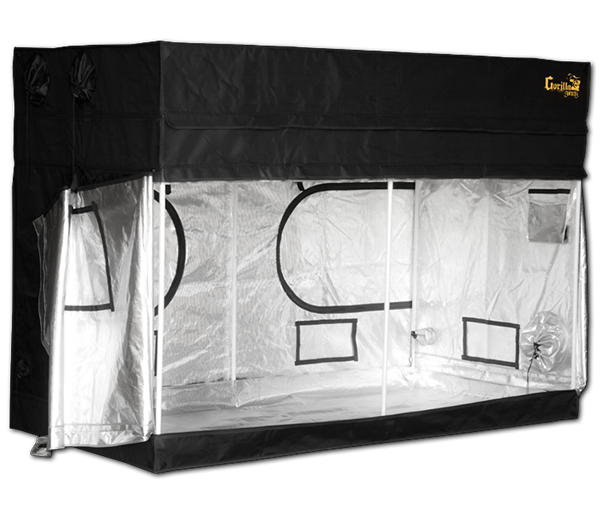 Gorilla 4ft x 8ft x 4ft11inch w/ Ext 5ft11inch Plants Grow Tent Shorty Series