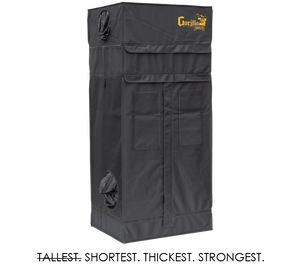 Gorilla 2ft x 2ft5inch x 4ft11inch w/ Ext 5ft11inch Grow Tents For Short Plants