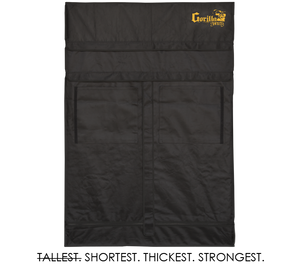 Gorilla 2ft x 4ft x 4ft11inch w/ Ext 5ft11inch Grow Tents For Shorty Plants