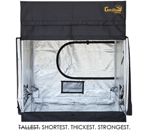 Gorilla 5ft x 5ft x 4ft11inch w/ Ext 5ft11inch Plants Grow Tents Shorty Series