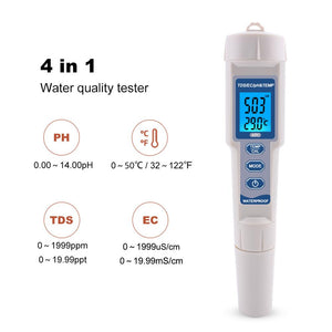 ECO Farm 4 in 1 PH/TDS/EC/Temperature Tester Meter-growpackage.com