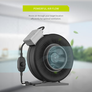 ECO Farm Hot Air Inline Fan Duct Fan with Speed Controller-growpackage.com