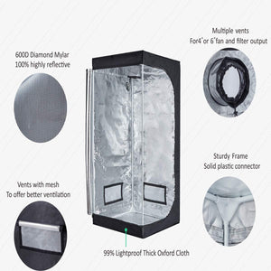 TopoGrow 32X32X63 LED Grow Tent Kits