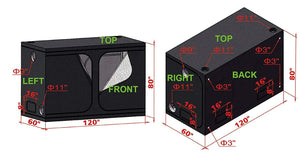 TopoLite 120X60X80 Led Grow Tent Kit