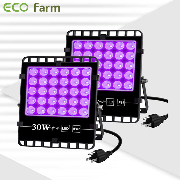 ECO Farm 2 PCS 30W UV Supplemental LED Grow Light