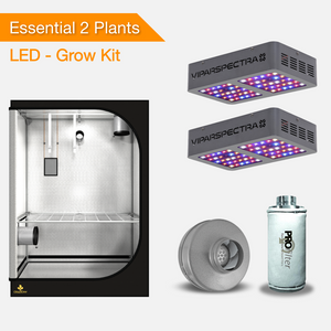 Essential 2 Plants Grow Kits - LED Grow Lights-growpackage.com