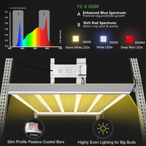 Mars Hydro FC-E 6500 650W LED Grow Light