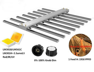 Eco Farm 400W/600W/800W/1000W/1200W Dimmable LED Grow Light Bar