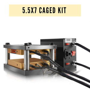 5.5x7 DIY Commercial Caged Press Plates Kit - Pairs It Well with A 20-30 Ton Hydraulic Press | Dabpress