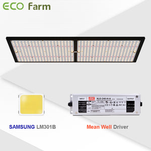 ECO Farm 3'x3' Essential Grow Tent Kit - 240W LM301B Quantum Board