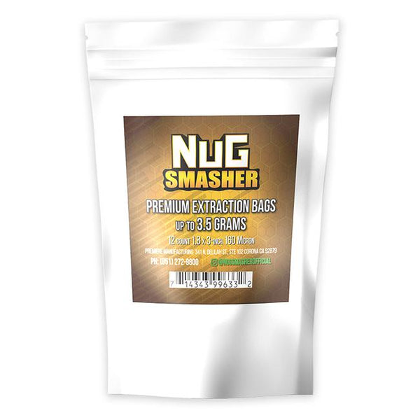NugSmasher Premium Extraction Rosin Bags - Pack of 12 (37u, 90u, 120u, 160u)