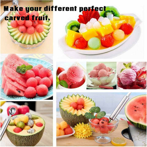 2 In 1 Stainless Steel Dual-Use Knife For Fruit Carving & Ball Digger - Kitchen Tools & Gadgets - RealUSAShop