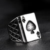 Image of stainless steel men's spades A ring - Car Electronics - RealUSAShop