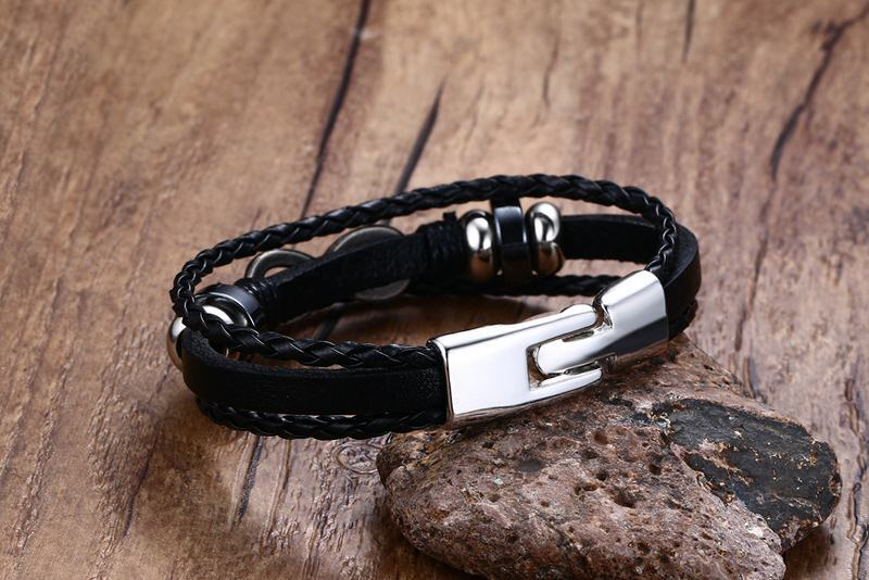 black stone infinity hand rope tide - Jewelry & Accessories - RealUSAShop
