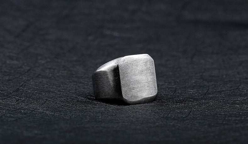 Iron Warrior  Fashion Unisex Stainless Steel Simple Plain Ancient  Square Ring - Jewelry & Accessories - RealUSAShop