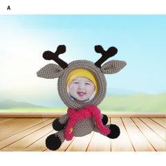 Animal Design Knitted Photo Frame