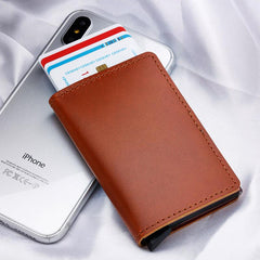 GENUINE ANTI-MAGNET LEATHER RFID CARD PROTECTOR WALLET