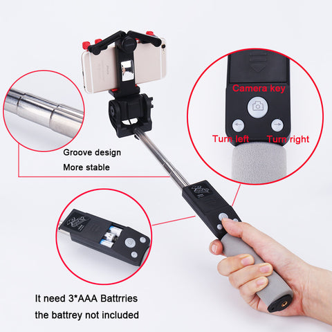 Smart Wireless Bluetooth Rotating Selfie Stick - Mobile Accessories - RealUSAShop