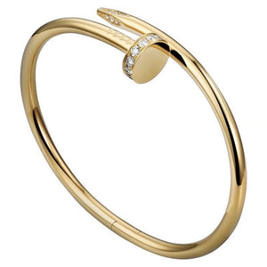 Golden Diamond Bangle Bracelet