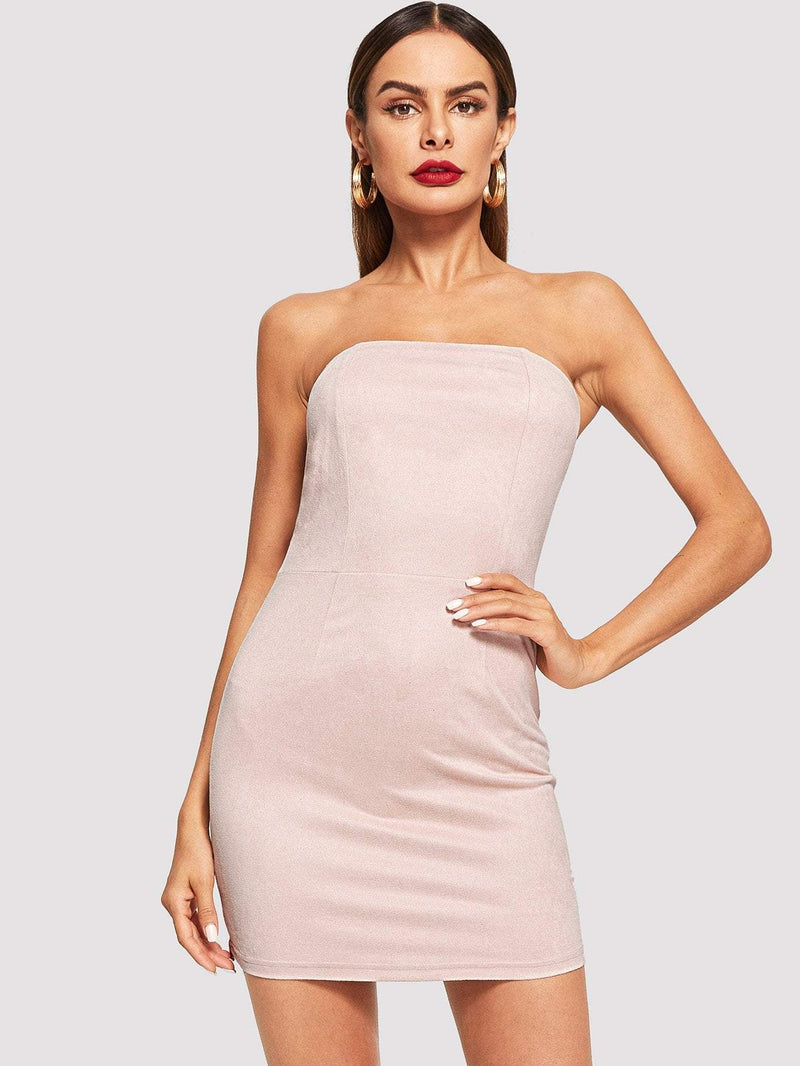 Solid Bodycon Tube Dress