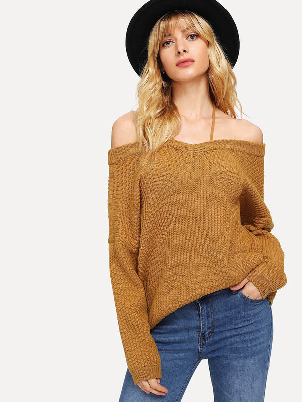 Drop Shoulder Cami Sweater - Salted Seagull