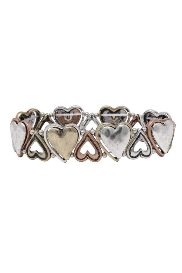 Heart metal stretch bracelet - Salted Seagull