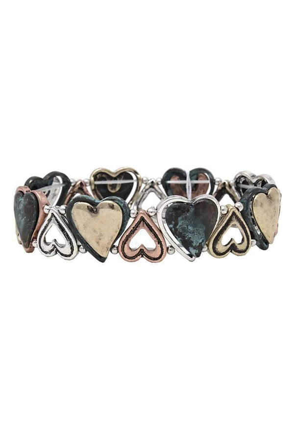 Heart metal stretch bracelet