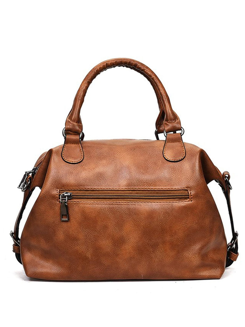 Double Buckle Satchel Bag