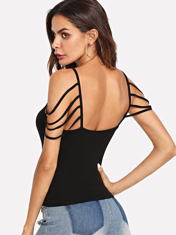 Cross Criss Fitted Slim Cami Top