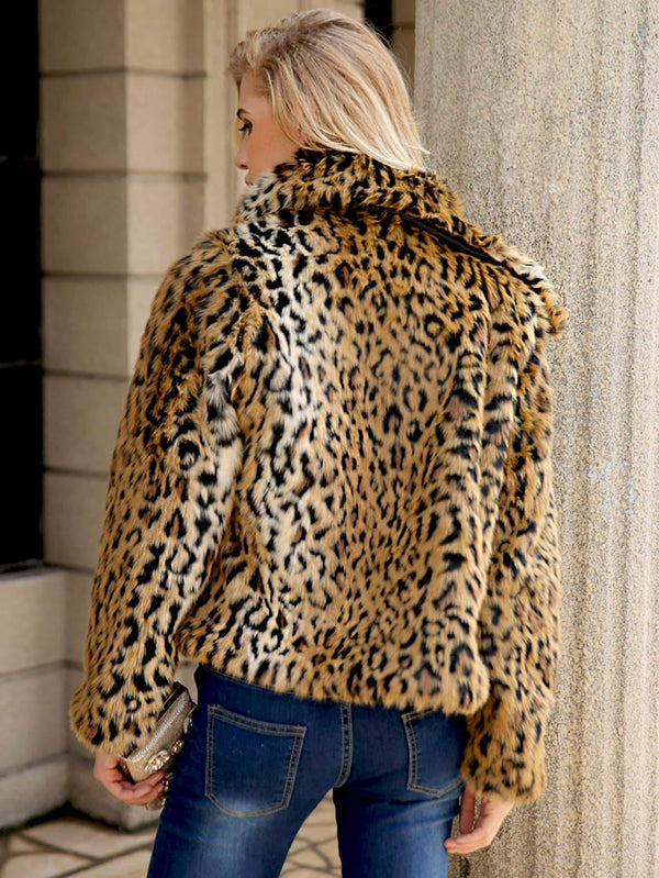 Leopard Open Front Outerwear - Salted Seagull
