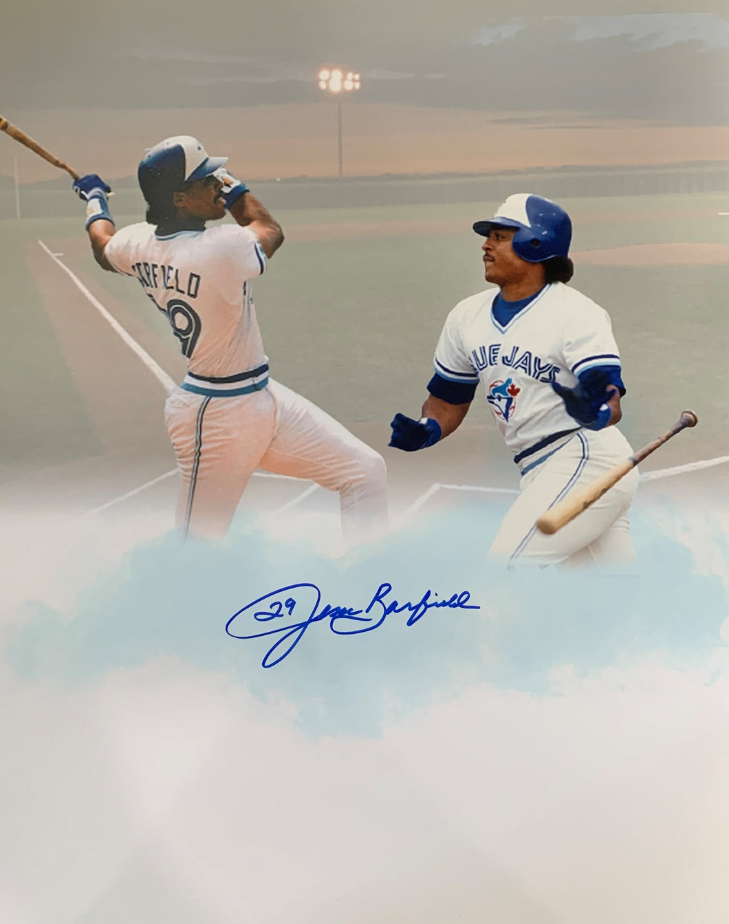 Jesse Barfield Signed 16x20 Photo - Toronto Blue Jays - AWM COA