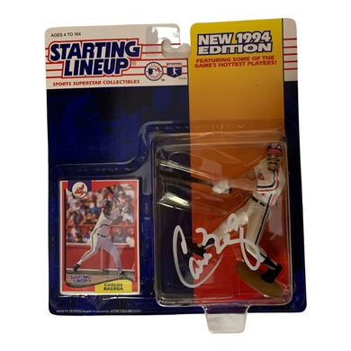 Carlos Baerga Signed 1994 Starting Lineup Figure SLU Kenner - Indians - COA