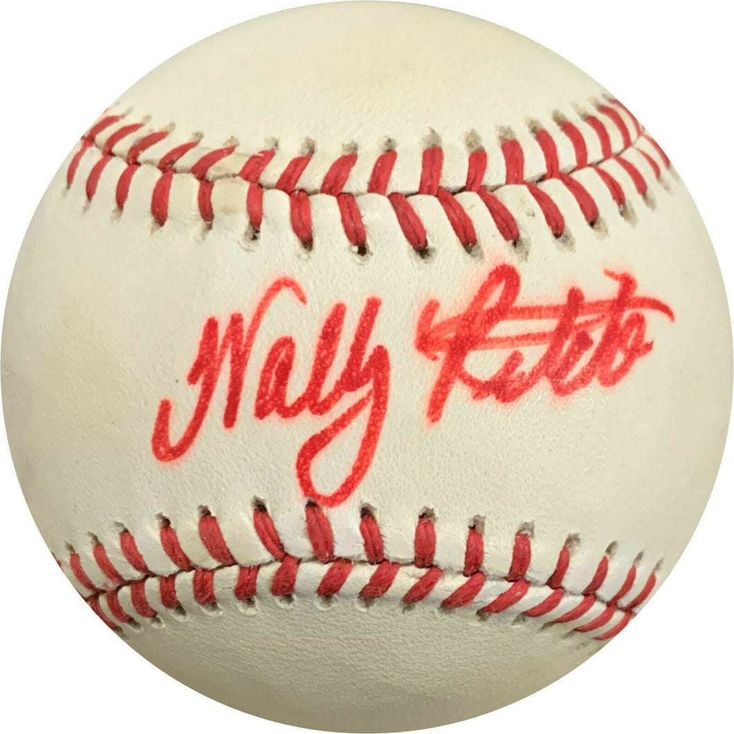 Wally Ritchie Signed Giamatti National League Baseball - AWM COA - Phillies