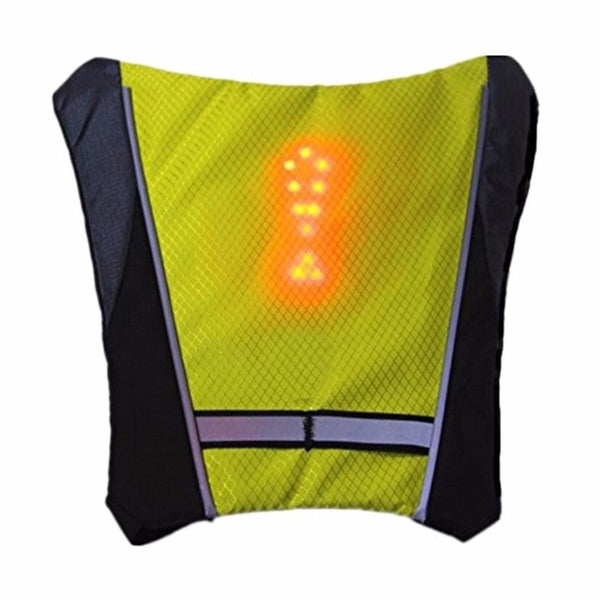 Cycling Bicycle Vest LED Wireless Safety Turn Signal Light Vest for Bicycle Riding Night Warning Backpack Guiding Light