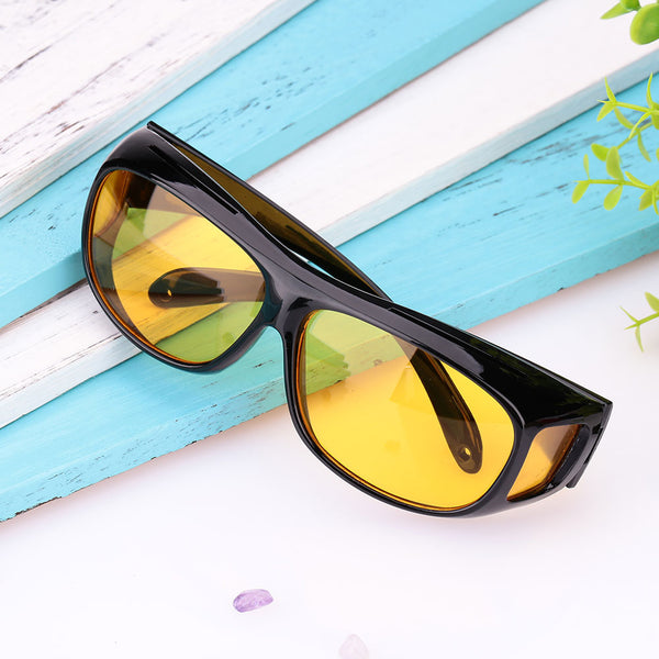 Vehemo Men Women Sunglasses Goggles Car Driving Glasses Eyewear UV Protection Unisex HD Yellow Lenses Sunglasses Night Vision
