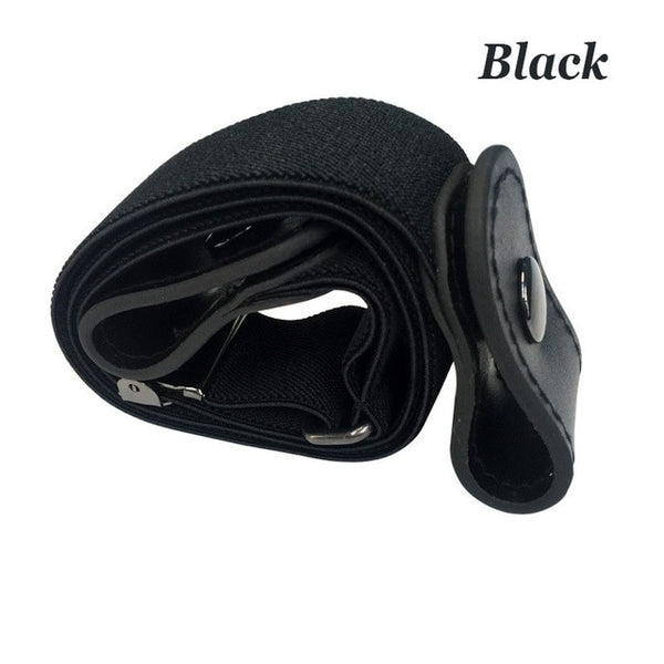 Buckle-Free Elastic Belt For Jean Pants Dresses No Buckle Stretch Elastic Waist Belt For Women Men No Bulge No Hassle Waist Belt