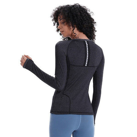 Eshtanga yoga shirts Women Autumn long Sleeve Sports T Shirt Fitness Gym Running shirt Quick Dry Yoga Shirts free shipping