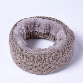 DF307 Winter Scarf Children Kids Women Cotton Scarf Ring Girls Boys Thickened Cashmere Collar Shawls Scarf Wool Unisex
