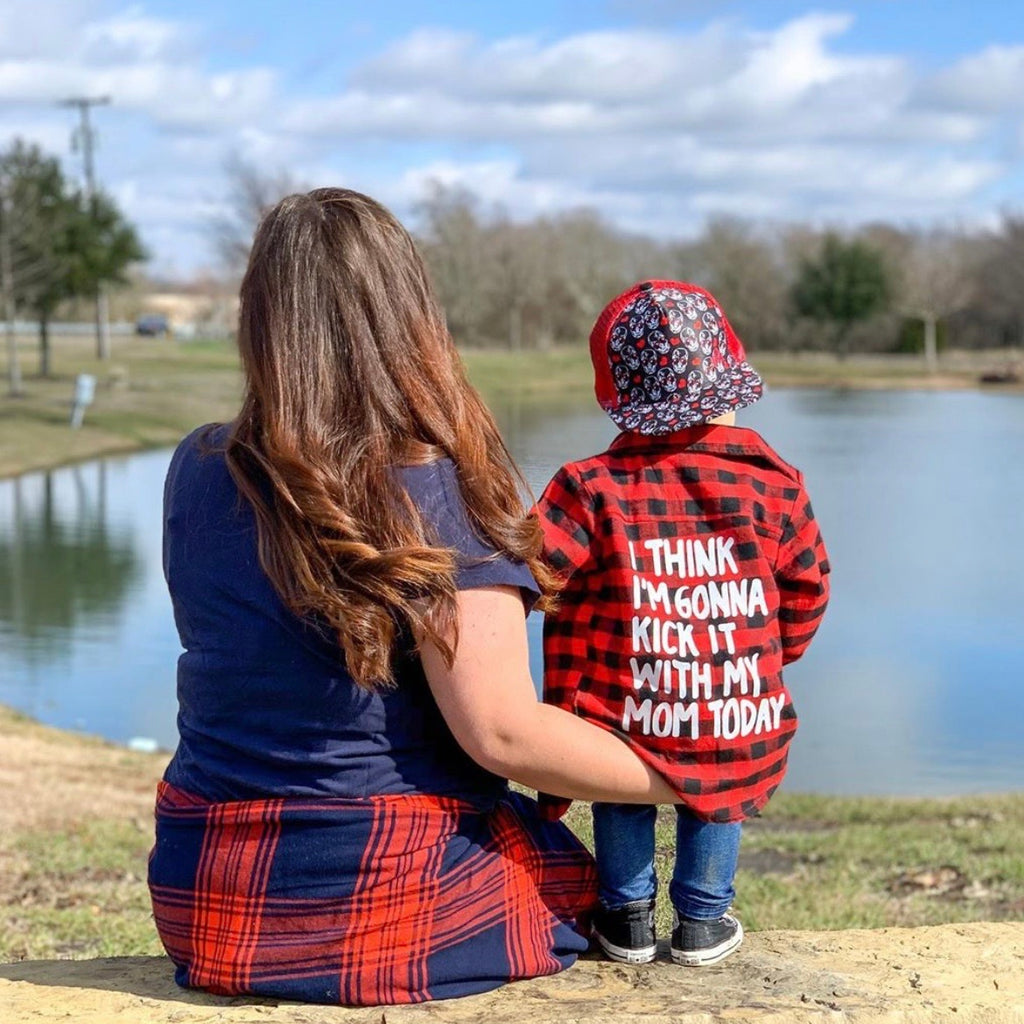 Mom Plaid Shirt (2T-6)