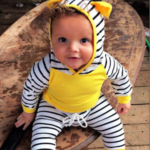 Yellow Striped Swearer Set