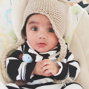 Monochrome Striped Onesie