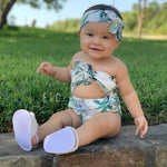 Tropical Pineapple Cut Out Romper