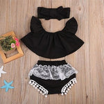 Lace Cold Shoulder Set